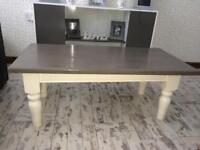 Grey and white coffee table