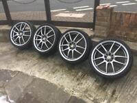 "18"" Kei Racing alloys , low profile Tyres 4x108 & 4x100"