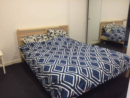 Queen sized mattress and bed frame