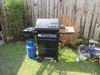 Gas charcoal BBQ