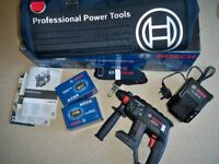 BOSCH GBH18V-EC BLACK EDITION BRUSHLESS CORDLESS SDS ROTARY HAMMER DRILL,2 BATTERIES AND BAG