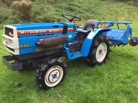 Mitsubishi MT1401D 4WD Compact Tractor with Rotavator ONLY 400 HOURS (other attachments available)