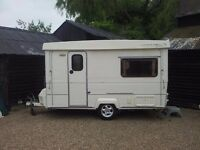 CAROUSEL FOLDING CARAVAN 12/2 SLIMLINE. 1996 EXCELLENT CONDITION WITH LOTS OF EXTRAS. £5750.