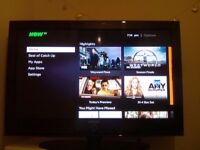 """42"""" samsung TV freeview built be ready with remote"""
