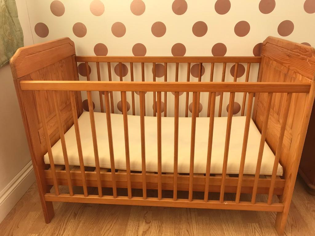 Baby Cot Wooden House Clearance