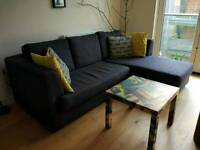 Dark grey corner sofa from MADE