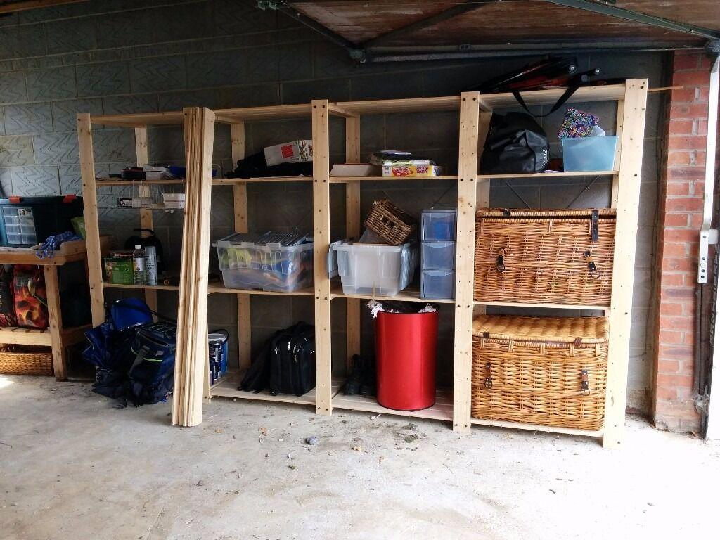 ikea hejne garage shelving 4 sections in bedford bedfordshire gumtree. Black Bedroom Furniture Sets. Home Design Ideas