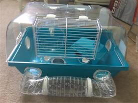 Hamster / gerbil blue cage. Comes with accessories shown in pics.