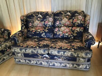 christie taylor 2 seater + 3 arm chairs in good condition