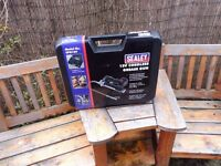 SEALEY CORDLESS GREASE GUN WITH TWO BATTERIES