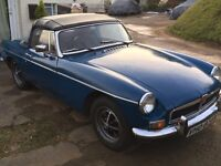 Mgb roadster 1974 for sale. Chrome bumper with overdrive. Mot till June.