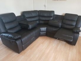 **BRAND NEW** CORNER LEATHER RECLINER SOFA