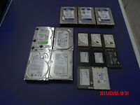 "Various Internal SATA 2.5"" SSD (s) and regular 3.5"" HDD (s) for sale"
