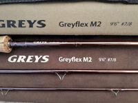 """Greys mk2 greyflex flyrod 9'6"""" 7/8 In Perfect Condition £65"""