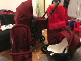 Jane Epic Travel Pram, Buggy, Car seat & Accessories