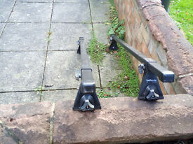 Halfords Roof Bars for cars / vans with rain gutters