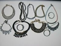 Necklaces x 9 & Bangles x 3 Fashion Costume Jewellery