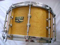 """Tama AW 548 Artwood BEM Pat 30 snare drum 14 x 8"""" - Gladstone homage - Japan - 80's"""
