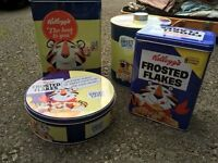 Set of three Kellogg's tins