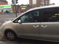 Volkswagen Sharan S Bluemotion Tdi S-A, LOW MILEAGE, SAT NAV, READY 4 UBER,PCO,SERVICE HISTORY, PHV