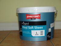 Johnstone's Trade Paint, New, Unopened 10 Lt, Lemon Daze Sheen Mix