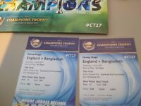 2 tickets for Champions Trophy Cricket England vs Bangladesh