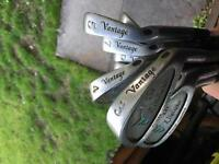 Vantage Irons Steel Shaft- Free woods golf bag & Putter-