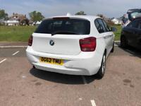 2012 (62) WHITE BMW 1 SERIES 116D 1.6 DIESEL EFFICIENT DYNAMICS SPORT £0 ROAD TAX YEAR MOT CHEAP