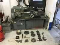 Harrison L5 lathe with screw cutting gearbox, autofeed and lots of tooling