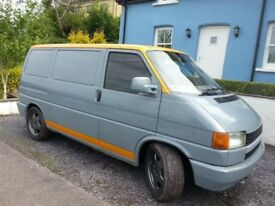 VW Transporter T4 1994 1.9 Grey & Orange semi converted. Mileage not true to clocks. Engine changed.