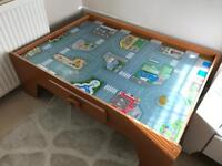 ELC car and train table with drawer