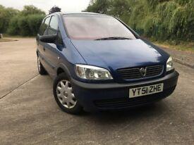 Vauxhall Zafira 1.6 7 Seats FSH Fresh MOT
