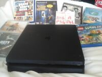 Playstation 4 CUH-2116A slim edition 500GB hard drive PAL and official playstation controller