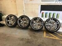 """BMW 20"""" alloy wheels and tyres"""