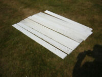 8 Used Marley Plastic Fence Slats. Located in DEREHAM