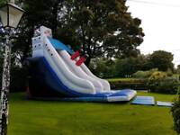 Titanic themed bouncy castle for hire, birthday party £80 per day or £120 for weekend