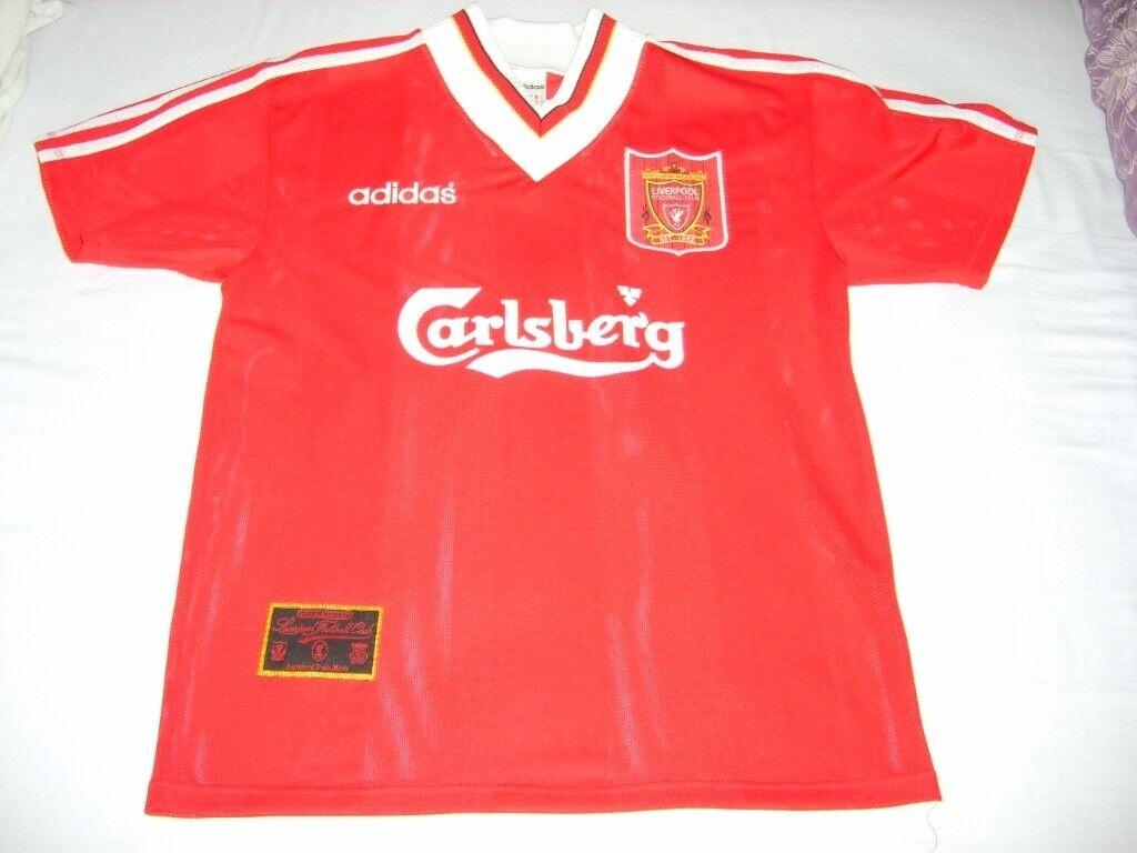 Vintage Retro Liverpool Football Club LFC 95 96 season home jersey shirt 99274e4bf