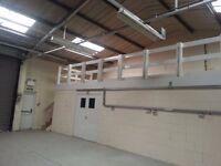 Storage available, could also be offices or workshop. 16 - 180sqm
