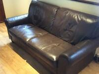 Real leather 3& matching 2 Totally perfect condition