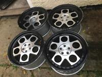 "18"" 5x100 genuine ispiri alloy wheels staggered deep dish"