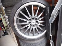 Wolfrace Alloy Wheels & Tyres (Fits Ford Focus)