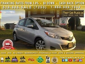 2014 Toyota Yaris LE-$47/Wk-Bluetooth-CD/Mp3-Tint-Cruise-AC-Keyl