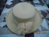 Ladies yellow hat