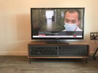Retro Style TV Stand Walnut & Grey