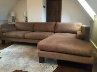 Quality Corner Sofa with Chaise and Matching Armchair in Mint Condition
