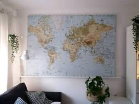 Large IKEA PREMIAR World Map **RARE** 200cmX140cm