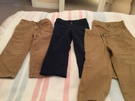 Boys 3 years trousers x4