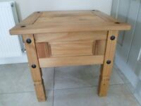 Mexican pine coffee/side table. Very good condition.