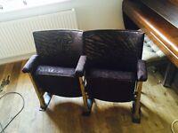 Vintage Art Deco theatre seats