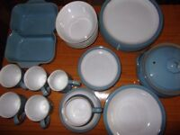 Denby vintage Colonial Blue tableware 32 pieces, little used